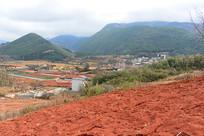 云南建水县农村的红色土地