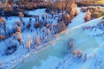 大兴安岭雪域冰河红树林风景