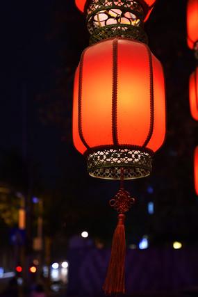 古色古香的红灯笼