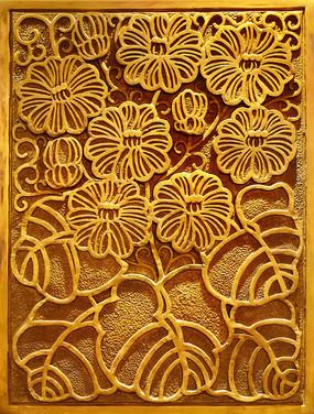 花卉浮雕装饰画