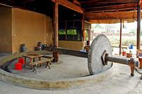 老式榨油作坊古董水磨