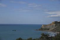 西西里岛看地中海
