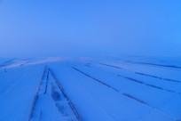 雪域雪原暮色