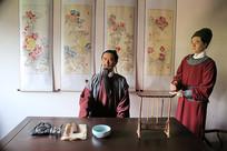 古代县衙寝室蜡像