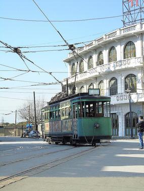 老上海电车摄影