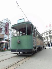 老上海电车特写