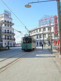 老上海绿色电车