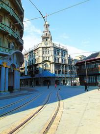 老上海商业街道