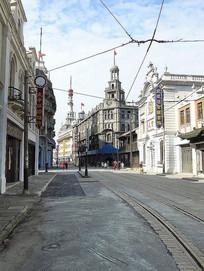 老上海商业街摄影