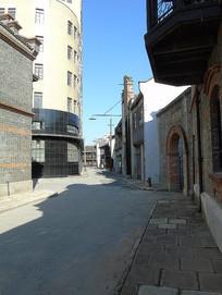 上海影视城老街到小弄堂沿街摄影