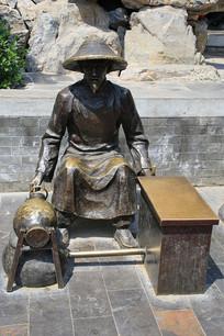 爆米花传统手艺雕像