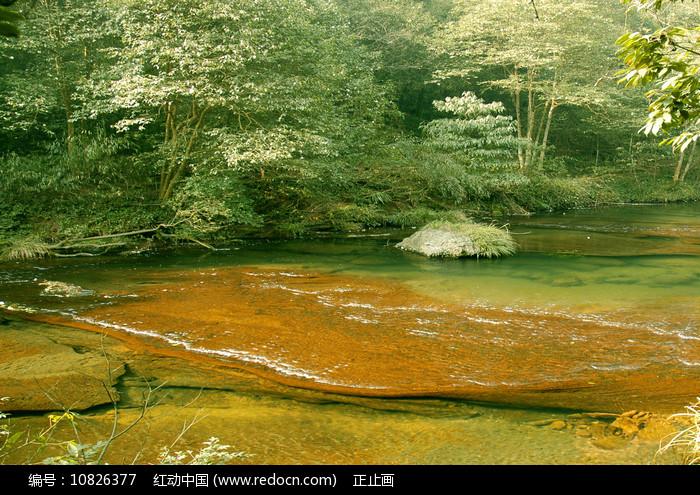 成都邛崃天台山小九寨-清澈溪流 图片