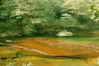 成都邛崃天台山小九寨-清澈溪流