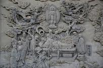 佛陀涅槃佛祖故事浮雕