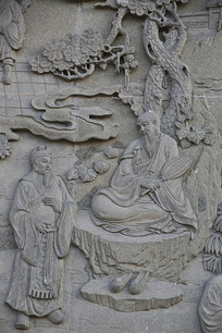 佛祖故事浮雕像