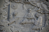 佛祖故事浮雕像五祖弘忍