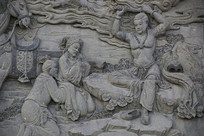 佛祖故事浮雕修炼