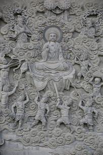 佛祖故事浮雕-修炼降魔