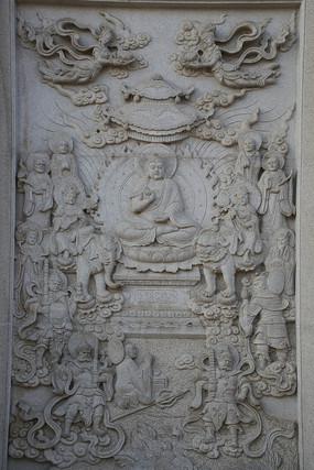 佛祖故事人物浮雕墙