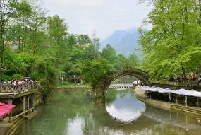 彭州白鹿镇-法国风情小镇中法桥
