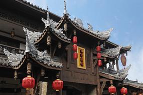 成都黄龙溪古镇-仿清街中式门楼