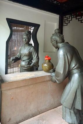 成都临邛古城文君故居当垆亭雕塑