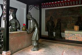 卓文君司马相如当垆卖酒雕塑