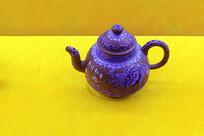 紫砂壶侧视图