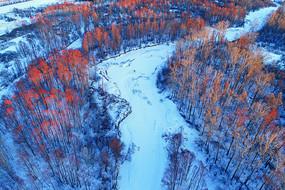 大兴安岭冬季林海