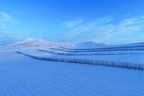 呼伦贝尔原野冬季地理风光