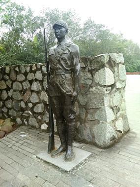 抗日战士雕塑