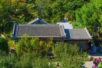 千山老房子建筑群与山林