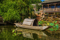 千山老房子潭溪小木船