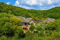 千山山脚园林式老房子建筑群