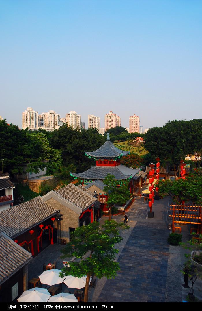 深圳锦绣中华仿古街俯拍图片