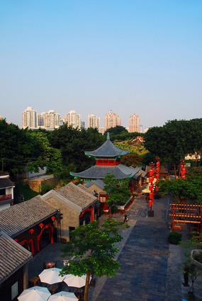 深圳锦绣中华仿古街俯拍