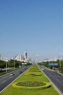 深圳深南大道-道路绿化带