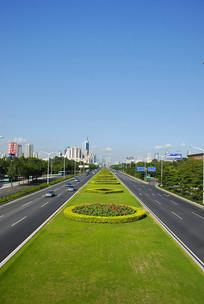 深圳深南大道绿化带