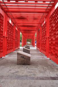 定州成语故事浮雕走廊
