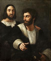 拉斐尔与朋友的自画像