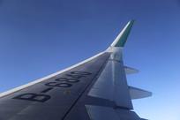 高空飞机飞翔