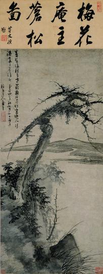 元代吴镇松石图