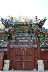 定州文庙琉璃瓦大门
