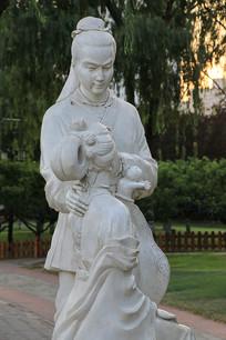古代情侣雕像