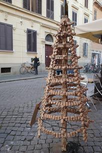 罗马街头红酒瓶塞塔