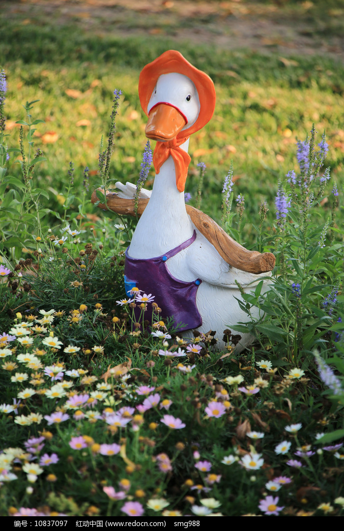 花园里的鸭子彩雕图片