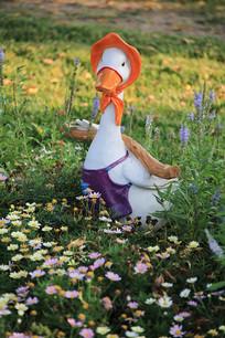 花园里的鸭子彩雕