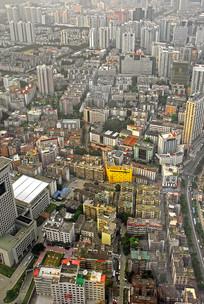 深圳蔡屋围地区俯瞰