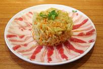 酸菜羊肉片火锅菜