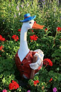 鸭子先生彩雕